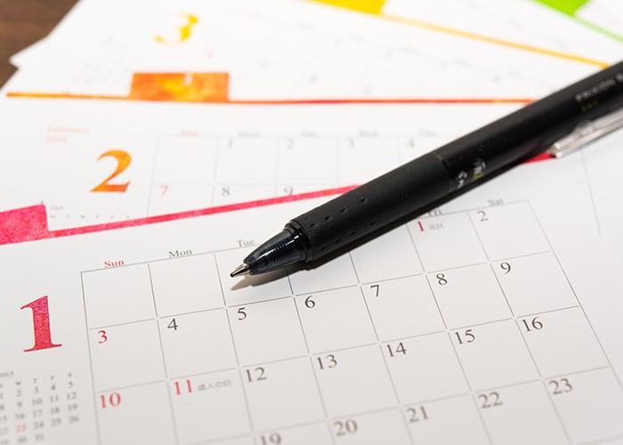 カレンダー、スケジュール